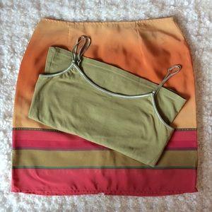 vintage 90's skirt and crop  bundle
